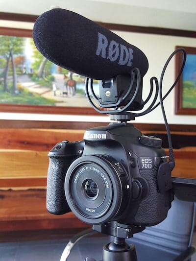 Vlog microphone and Lens