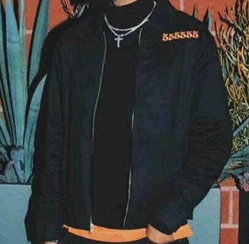 Vlone 55555 Jail Denim Black Jacket For Men