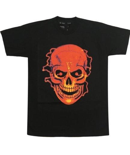 Vlone Flame Skull Black T-Shirt