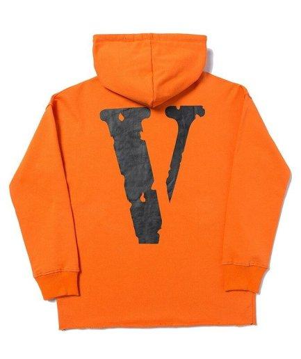 Vlone Staple Classic Orange Hoodie