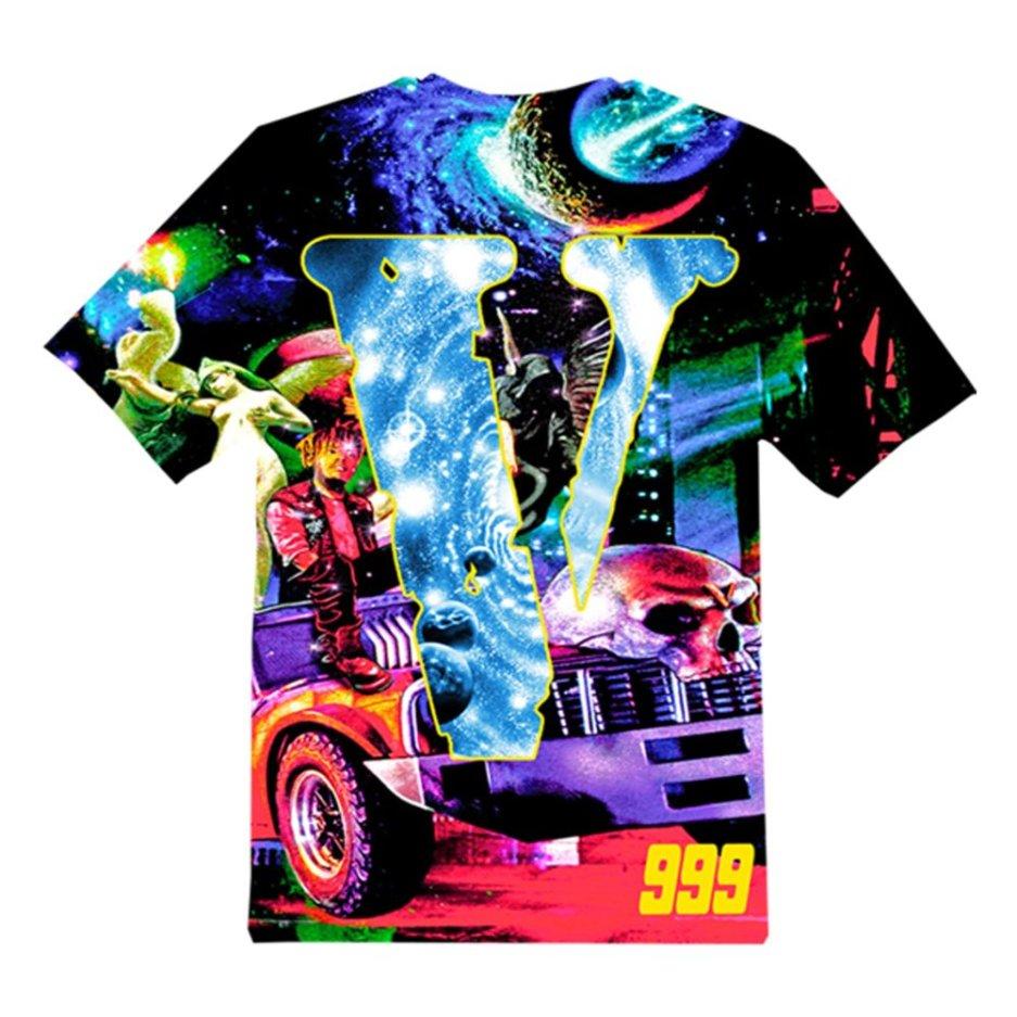 Juice WRLD x VLONE Cosmic Racer Black T-Shirts