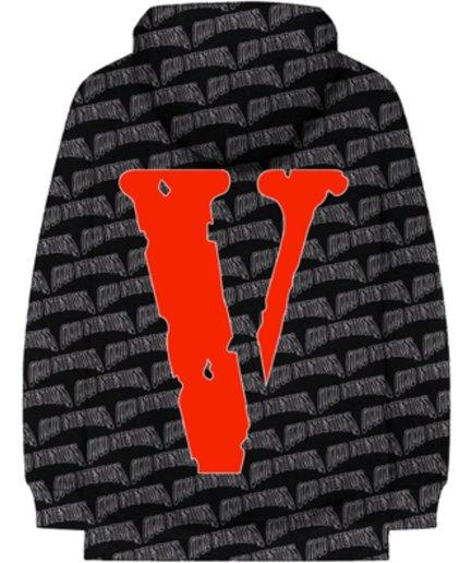 Vlone x Nav All Over Black Hoodie