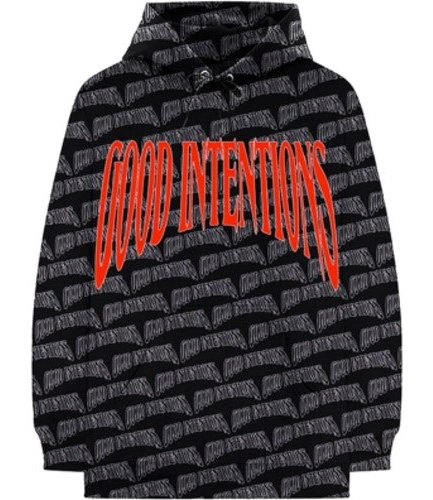 Vlone x Nav Good Intentions Black Hoodie