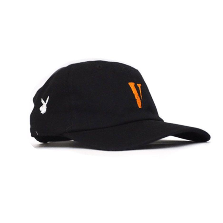 VLONE Vintage V Letter Dad Black Hat