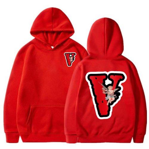 Vlone Angel Friends Red Hoodie