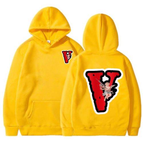 Vlone Angel Friends Yellow Hoodie