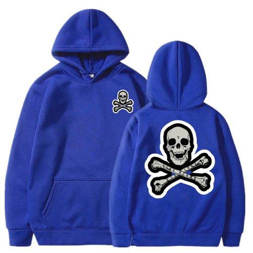 Vlone Skull And Bones Blue Hoodie