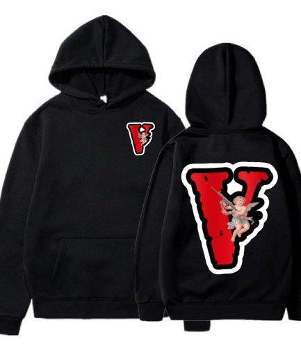 Vlone Angel Friends Black Hoodie