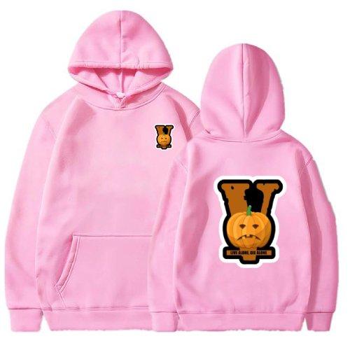 Vlone lonely Halloween 2021 Pink Hoodie