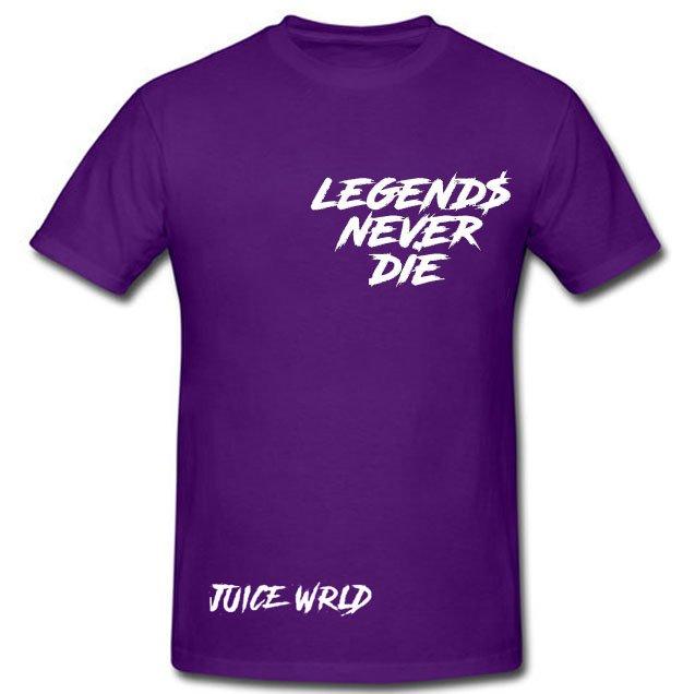Jucie Wrld x Vlone Legends Never Die Purple Tee