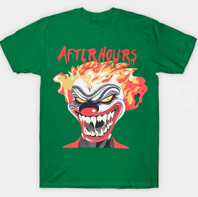 Vlone X The Weeknd After Hours If I OD Clown Green Tee