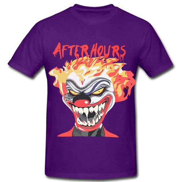 Vlone X The Weeknd After Hours If I OD Clown Purple Tee