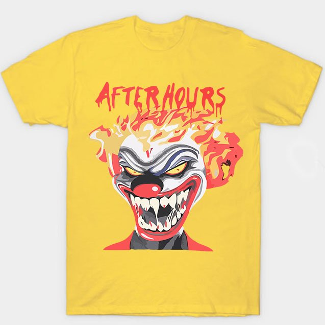 Vlone X The Weeknd After Hours If I OD Clown Yellow Tee