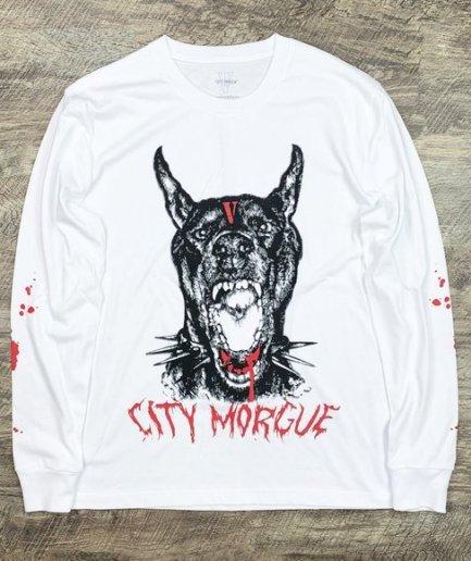 City Morgue x Vlone Bark Sweatshirt-White-Front