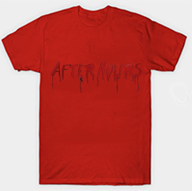 Vlone x The Weeknd After Hours Acid Drip Red Tee