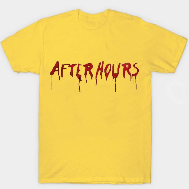 Vlone x The Weeknd After Hours Acid Drip Yellow Tee