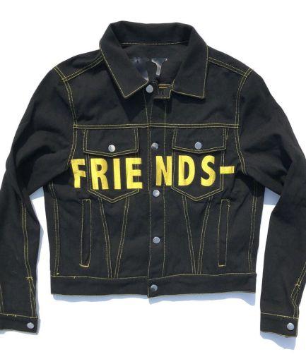 Vlone Friends Denim Black Jacket