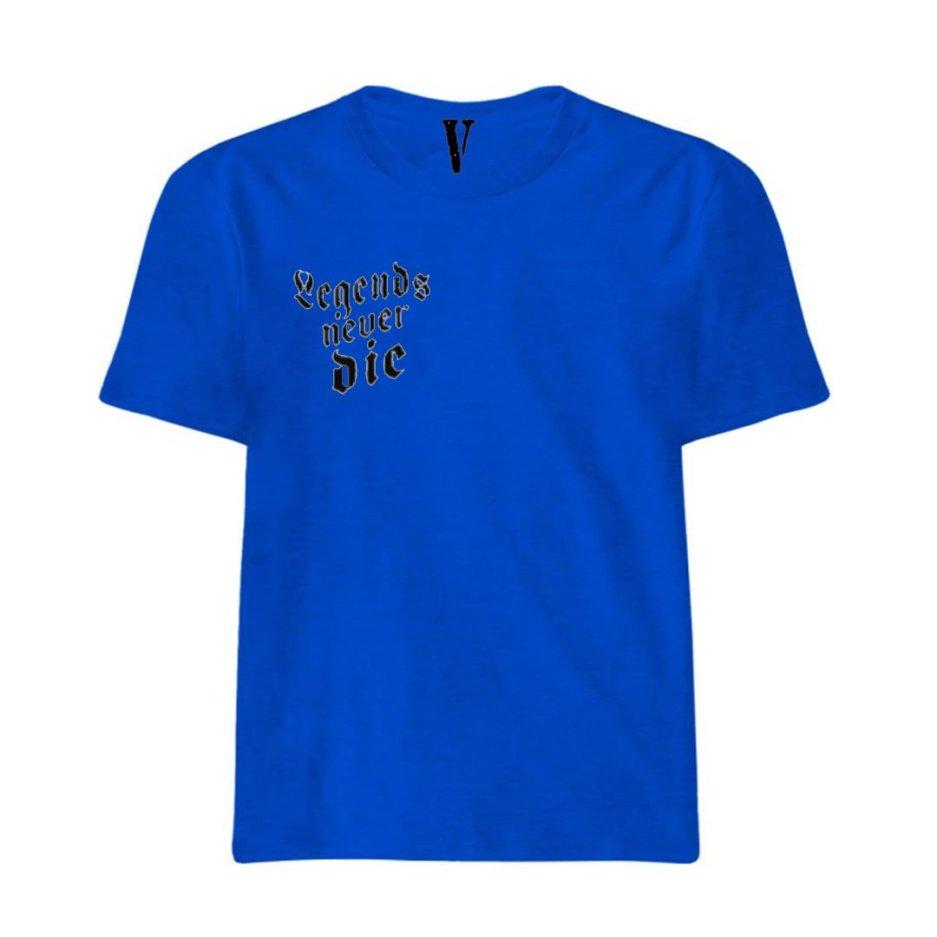 Juice Wrld x Vlone Legends Never Die Royal Blue T-Shirt