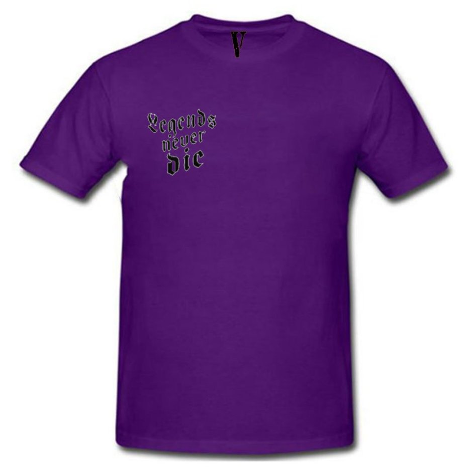 Juice Wrld x Vlone Legends Never Die Purple T-Shirt
