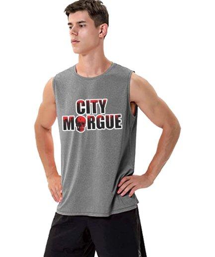 City Morgue x Vlone Drip Gray Sleeveless Shirt