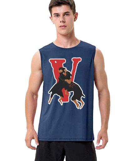 Nav X Vlone Dogs Sleeveless Shirt With Big V Letter