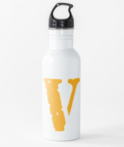 Vlone Logo Yellow Staple Water Bottle