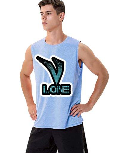 Vlone X Staple Sleeveless Shirt For Adult in Sky-blue