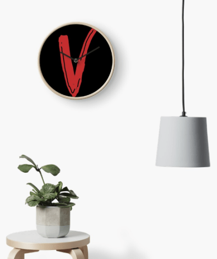 VLone Red V Clock