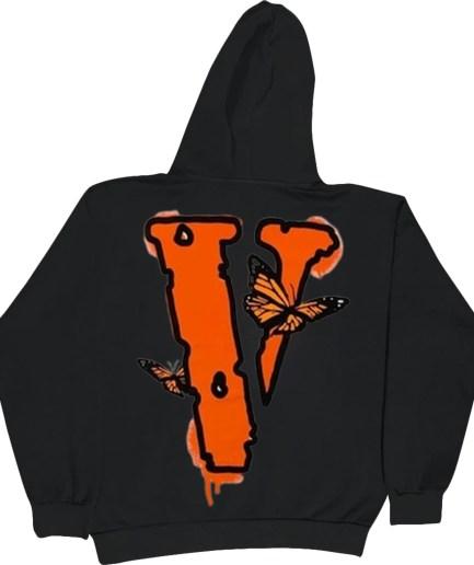Juice Wrld x Vlone Butterfly Hoodie Black