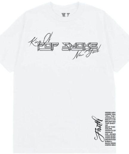 Pop Smoke x Vlone Faith King of New York White T-Shirt