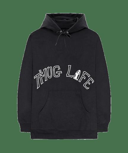 Vlone x Tupac Thug Life Tattoo Black Hoodie