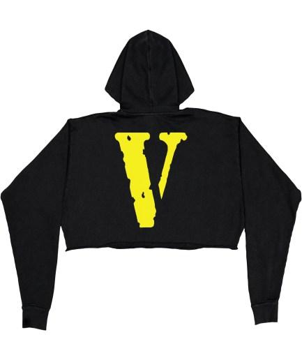 FRIENDS - Yellow Hoodie - Black - Womens (Back)