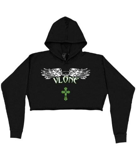 Vlone Support Hoodie – Black – Womens