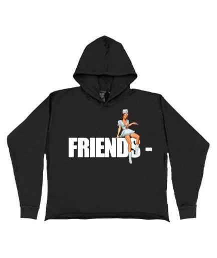 FRIENDS – Pin Up Hoodie – Black