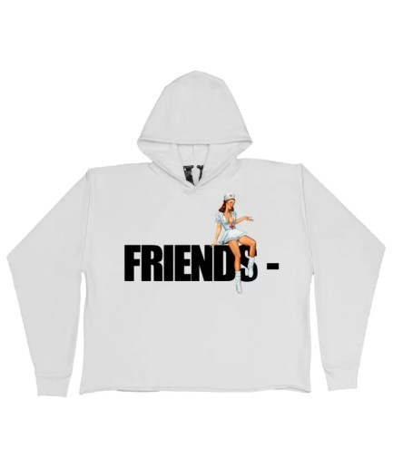 FRIENDS – Pin Up Hoodie – White-Front