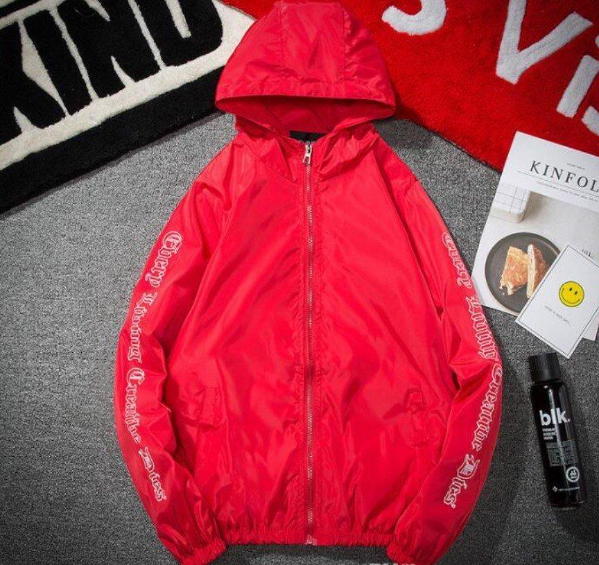 Vlone Hip Hop Windbreaker Bomber Sunscreen Red Jacket