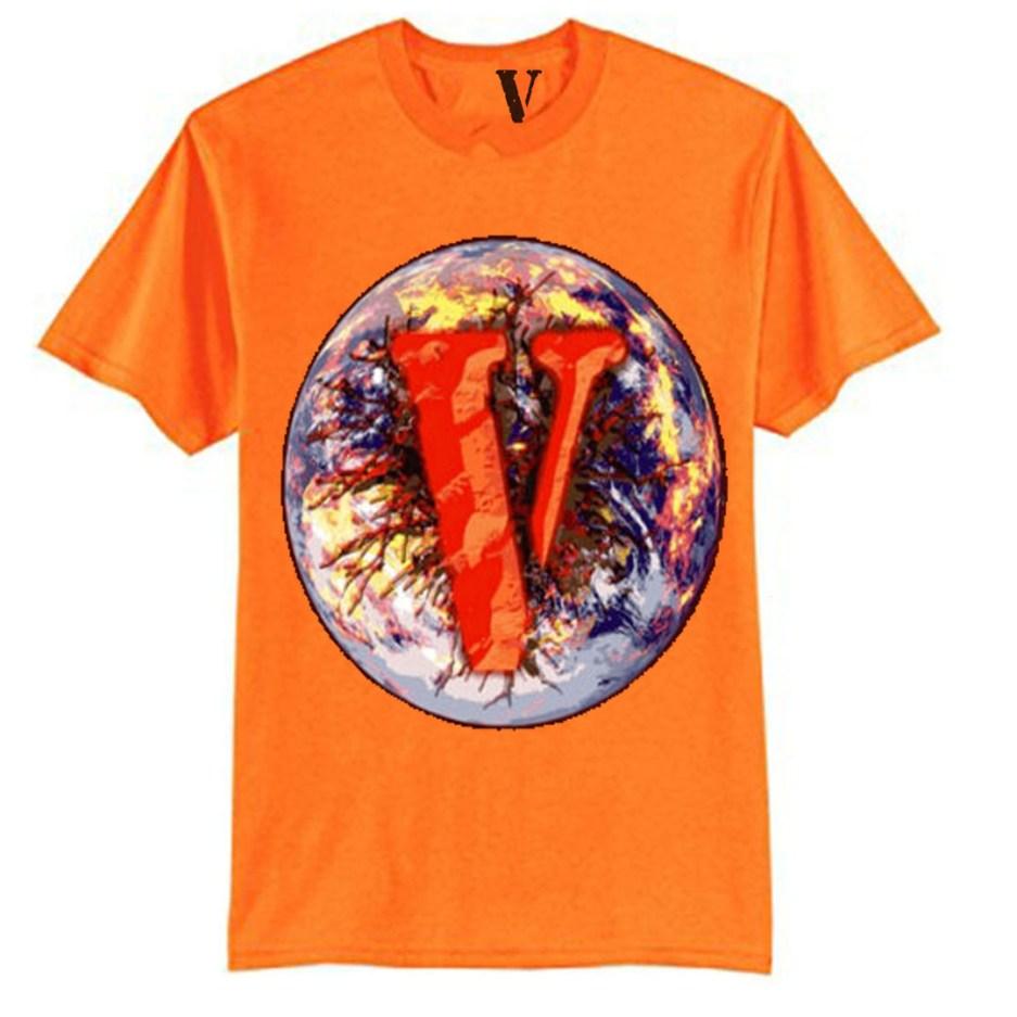 Vlone x Juice Wrld 999 Orange T-Shirt