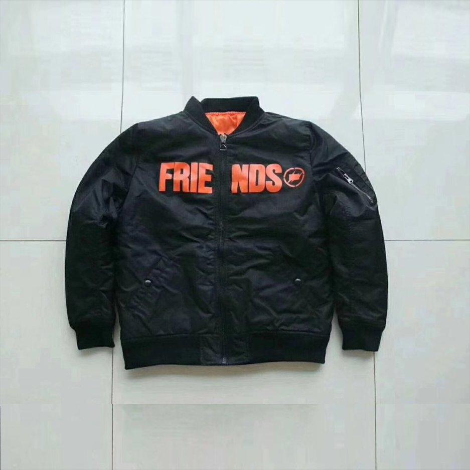Vlone Friends Bomber Black Jacket
