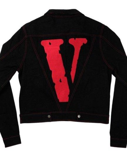 Vlone Denim Black Jacket