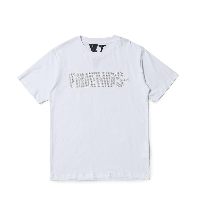 Vlone Friends Drilling Logo White Tees