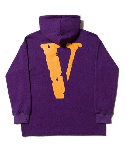 Vlone Friends Printed V Hoodie Orange\Purple-Black