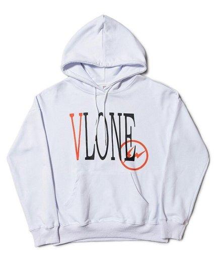 VLONE x Fragment Staple White Hoodie