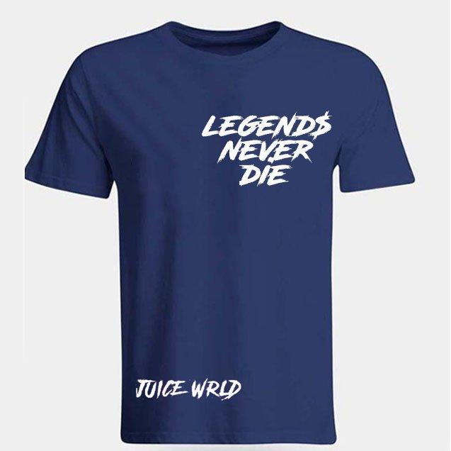 Jucie Wrld x Vlone Legends Never Die Blue Tee