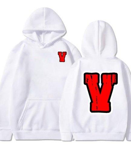Vlone Red Staple White Hoodie