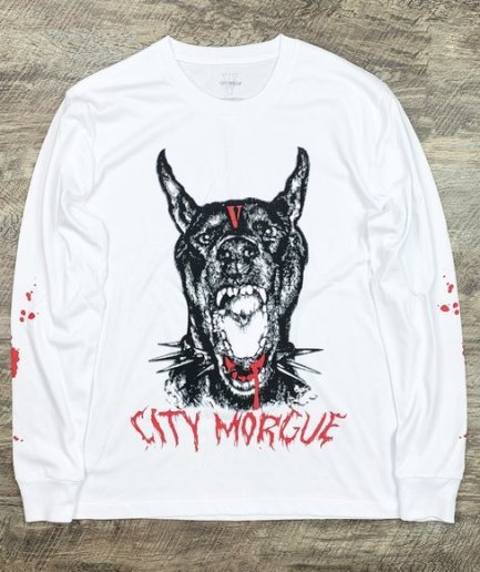 Vlone x City Morgue Bark White Long Sleeve Tee