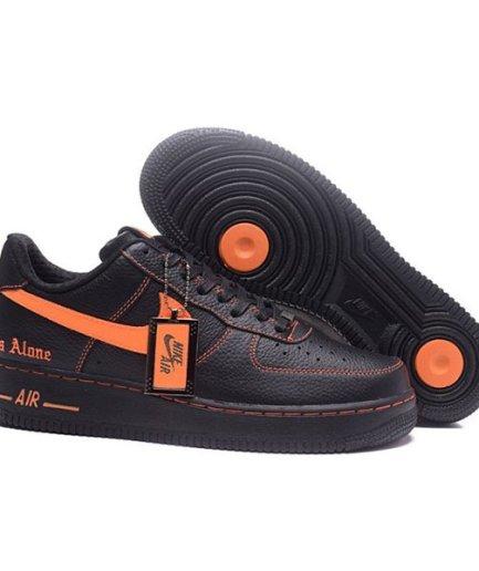 Vlone-x-NikeLab Air Force Casual Black Shoes Sneakers