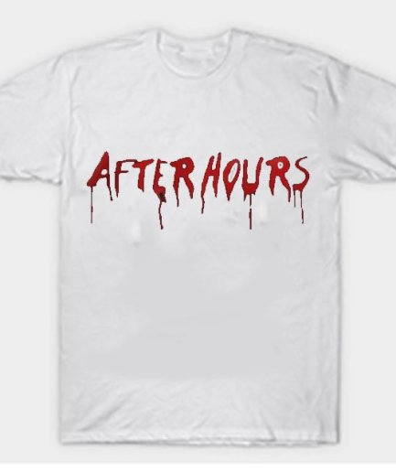Vlone x The Weeknd After Hours Acid Drip White Tee
