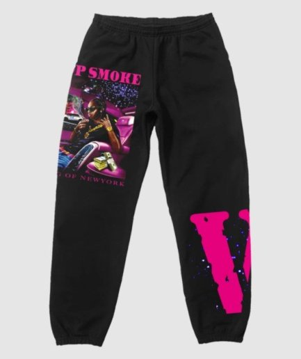 Pop Smoke x Vlone King of NY Black Pant