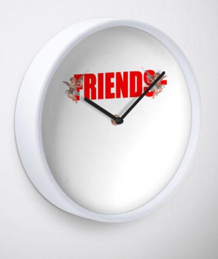Friends Vlone - V lifestyle logo Clock