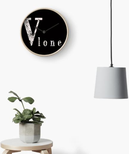 Vlone sticker Clock